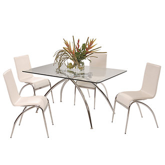Elaine White 5-Piece Dining Set