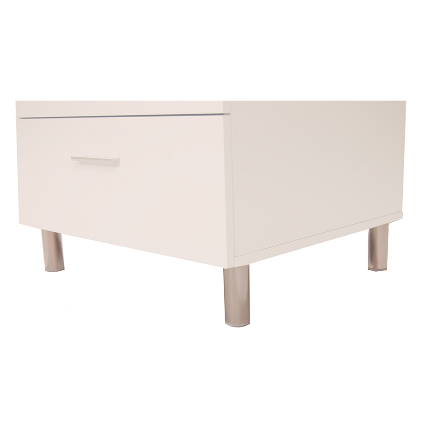 Bellmar White Nightstand  alternate image, 5 of 6 images.