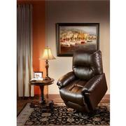 Wynette Brown Leather Power Lift Recliner  alternate image, 2 of 10 images.