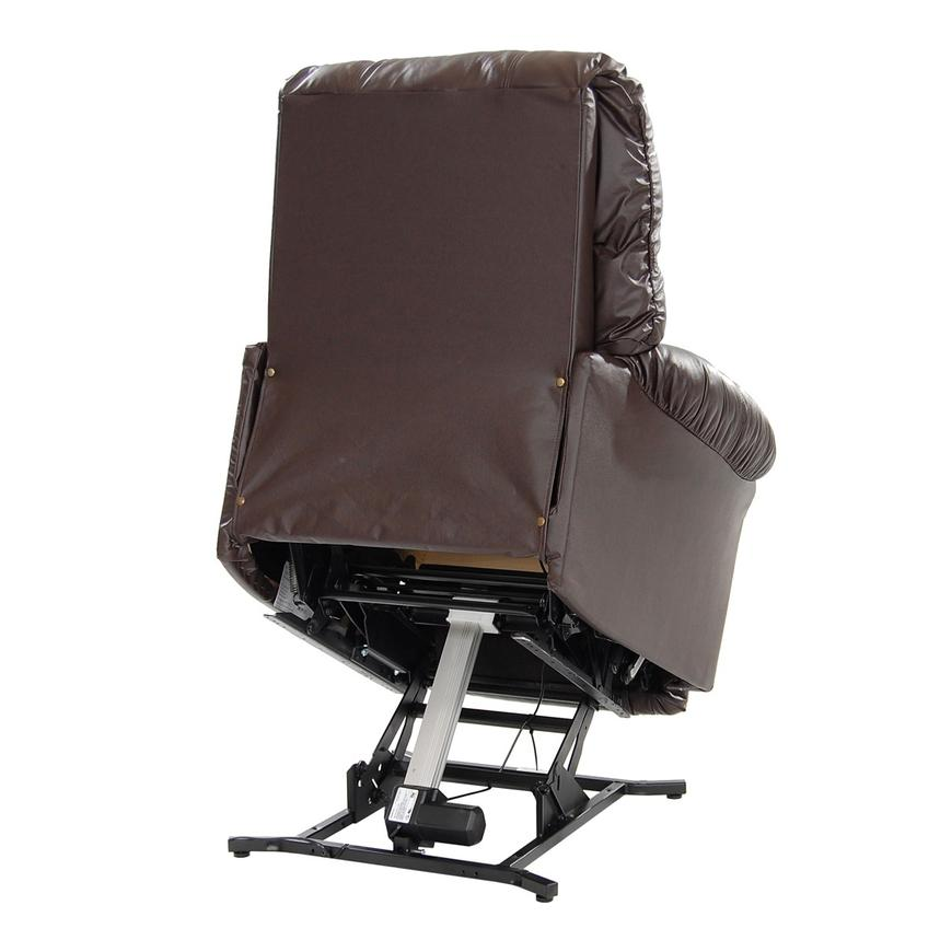 Wynette Brown Power-Lift Leather Recliner  alternate image, 6 of 10 images.