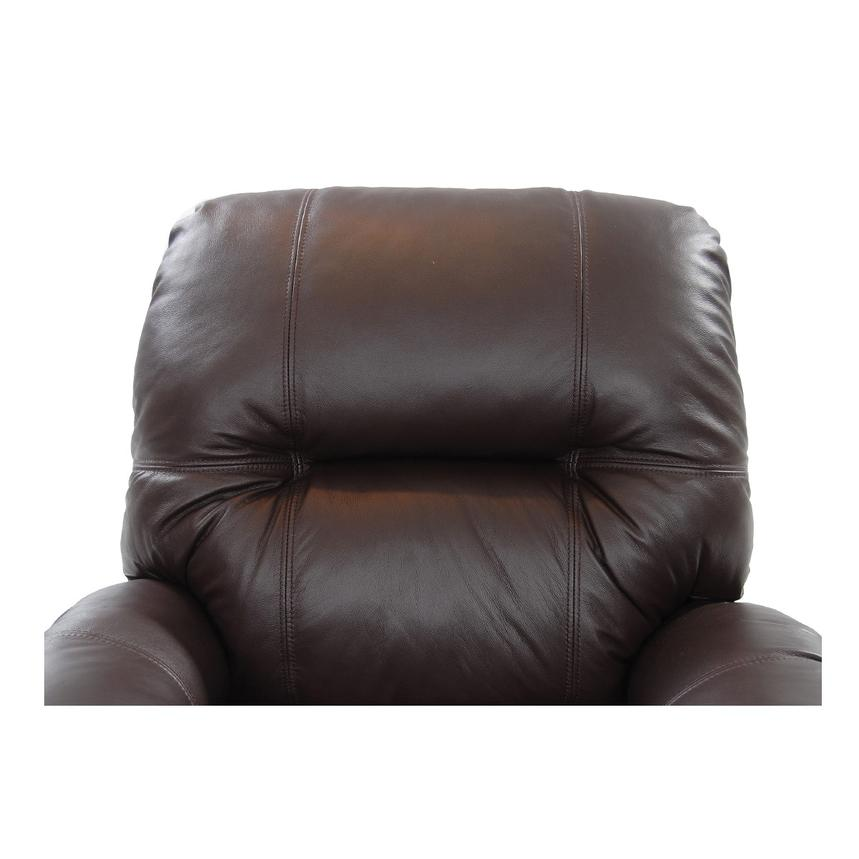 Wynette Brown Leather Power Lift Recliner  alternate image, 7 of 10 images.