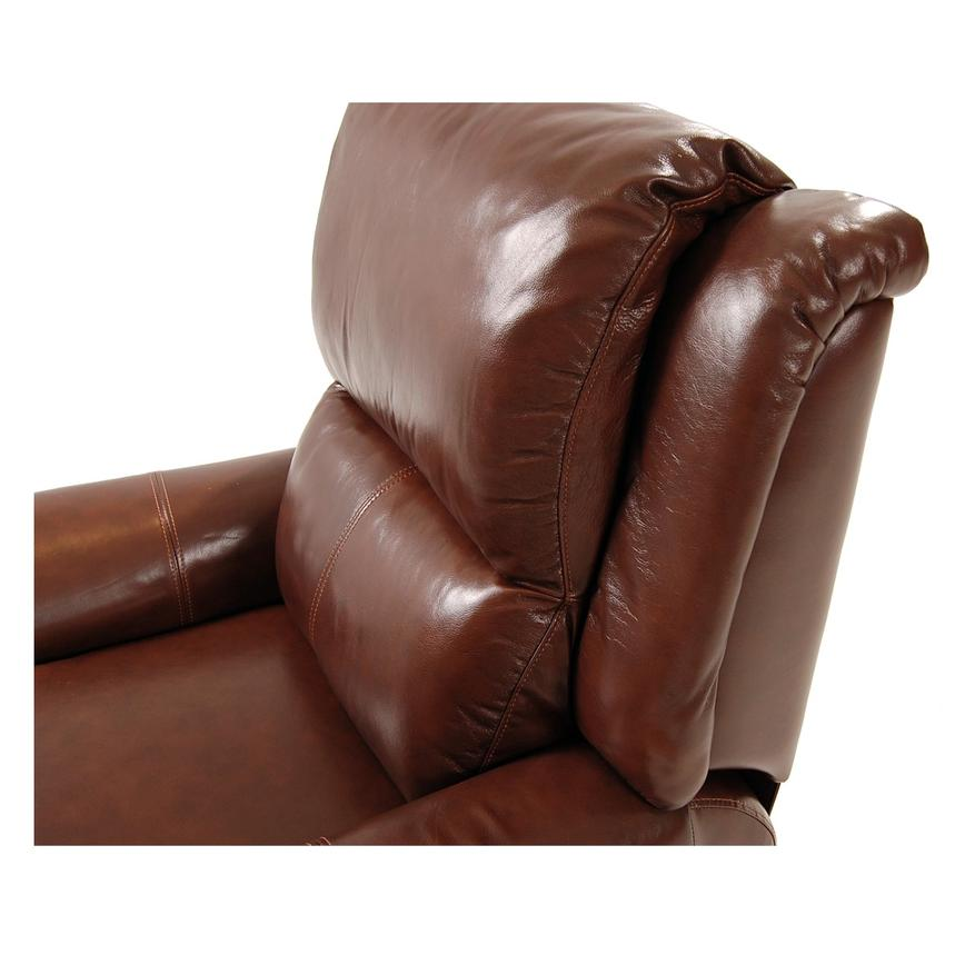 Mount Brown Leather Power Recliner  alternate image, 5 of 8 images.