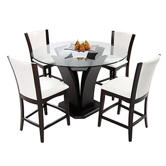 Daisy White 5-Piece High Dining Set
