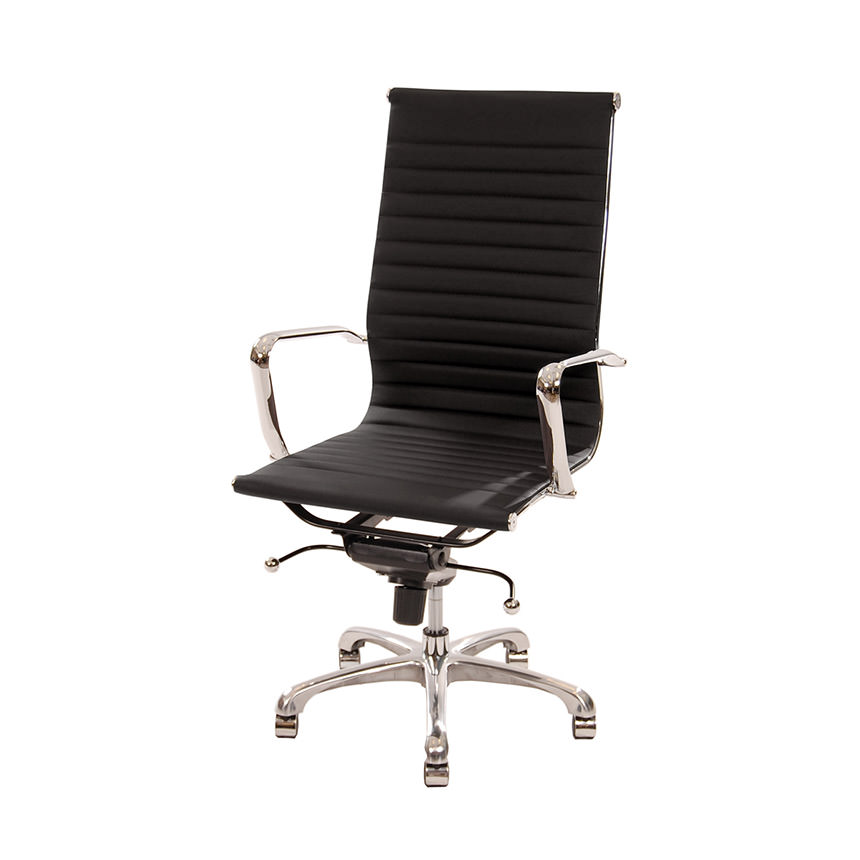 Watson Black High Back Desk Chair  main image, 1 of 6 images.