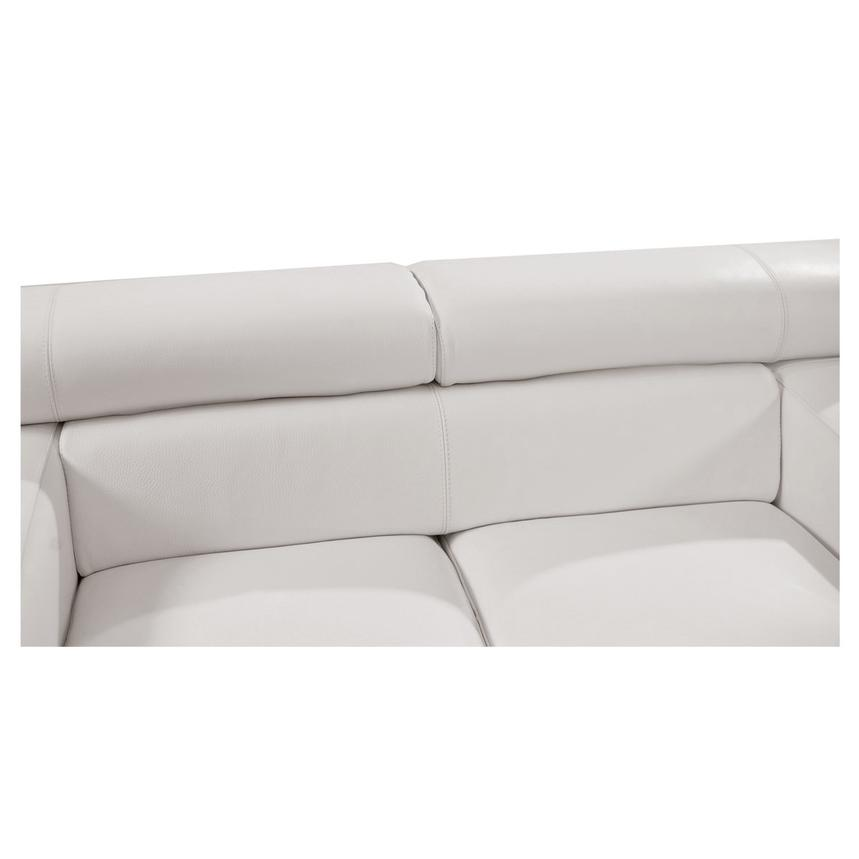 Grace White Leather Loveseat  alternate image, 5 of 10 images.