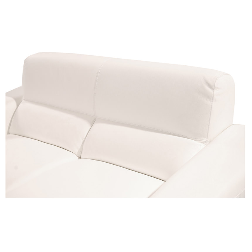Milani White Leather Loveseat  alternate image, 5 of 6 images.