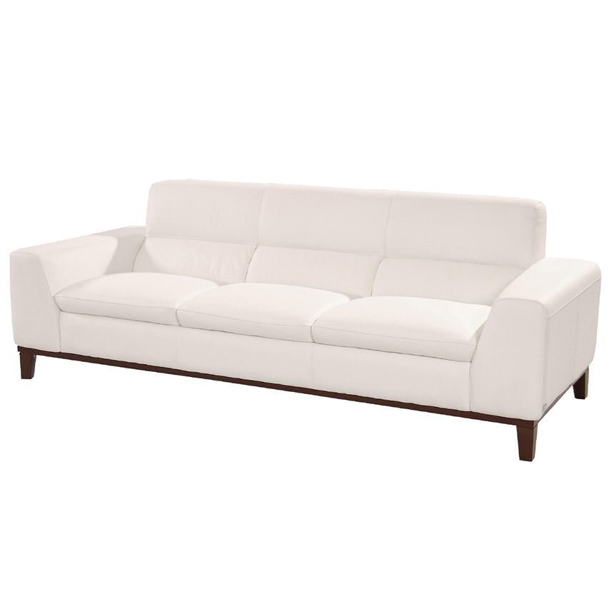 Milani White Leather Sofa El Dorado Furniture