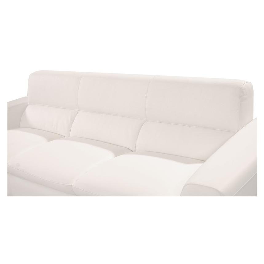 Milani White Leather Sofa  alternate image, 5 of 6 images.