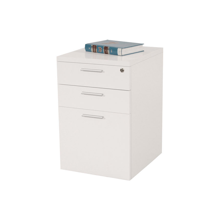 Bellmar White Lateral File Cabinet  main image, 1 of 4 images.