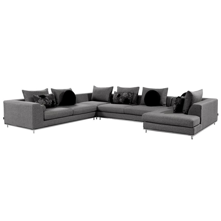 Henna Sectional Sofa w/Right Chaise  main image, 1 of 10 images.