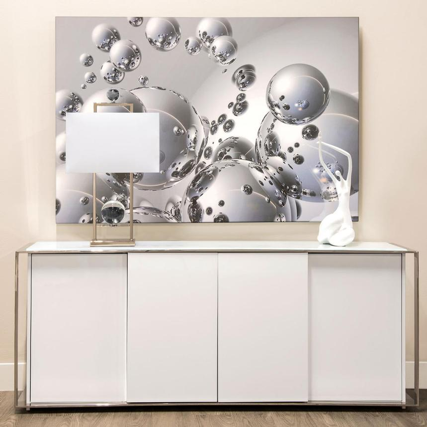 Silver Orbs Acrylic Wall Art  alternate image, 2 of 4 images.