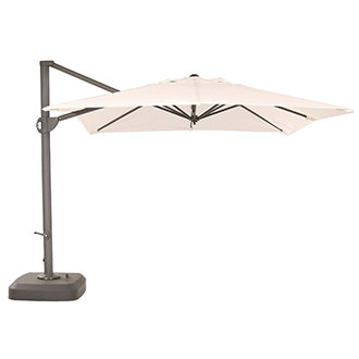 Roma White Square Umbrella