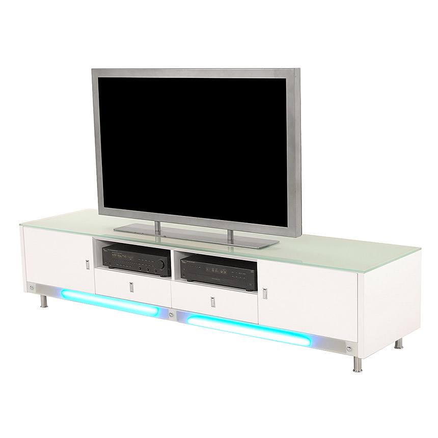 Dario White Illuminated TV Stand  main image, 1 of 5 images.