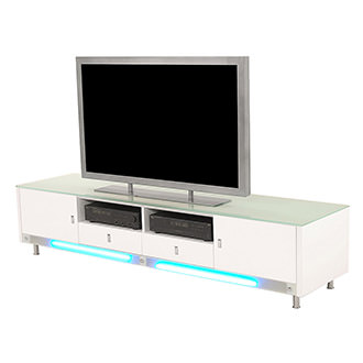 Dario White Illuminated TV Stand