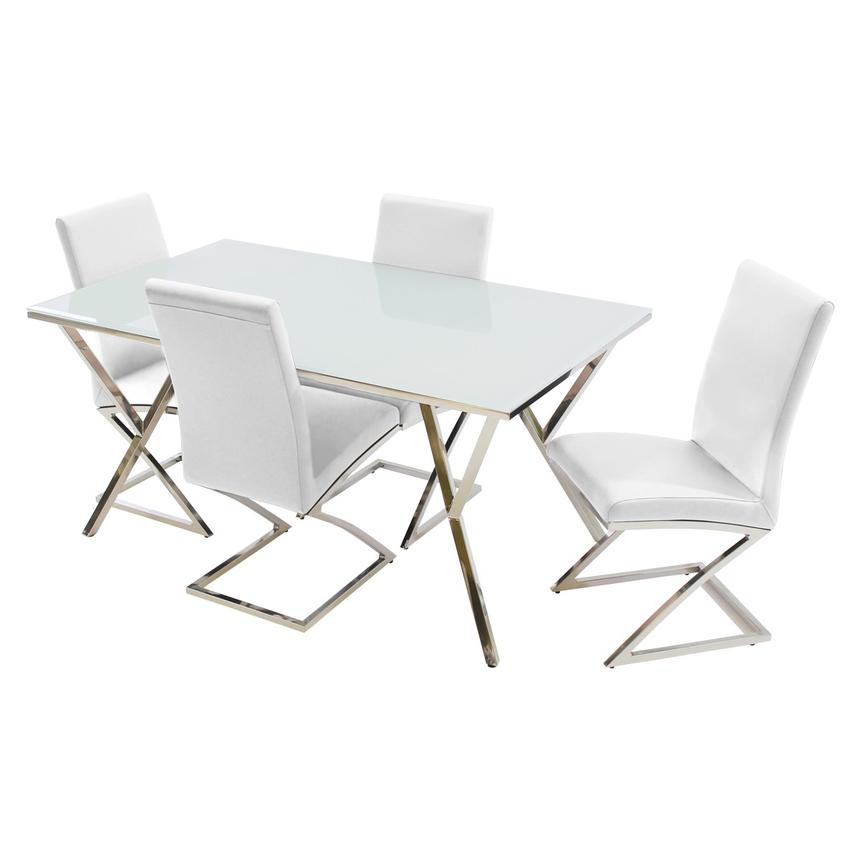 Jade White 5-Piece Casual Dining Set  main image, 1 of 9 images.