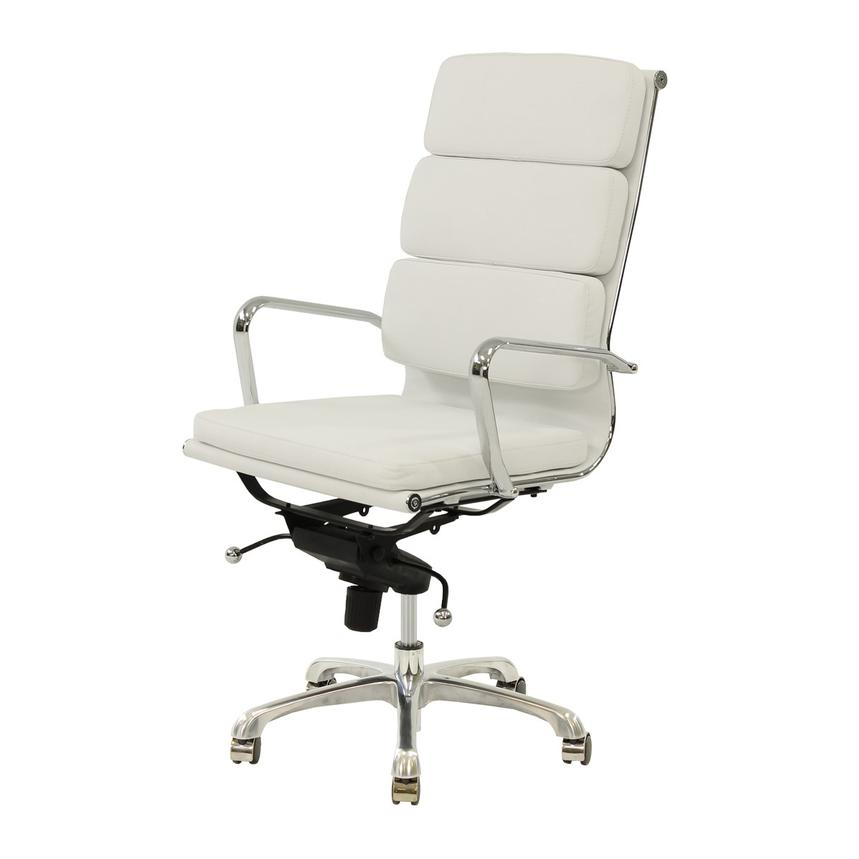 Marconi White High Back Desk Chair  main image, 1 of 5 images.