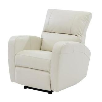 Keegan White Power Motion Leather Recliner