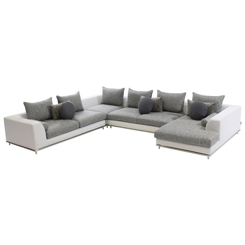 Hanna Sofa w/Right Chaise  main image, 1 of 5 images.
