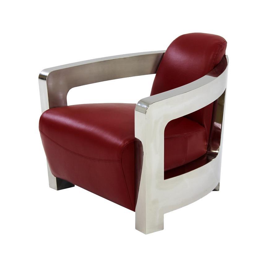 Aviator Red Leather Accent Chair El Dorado Furniture