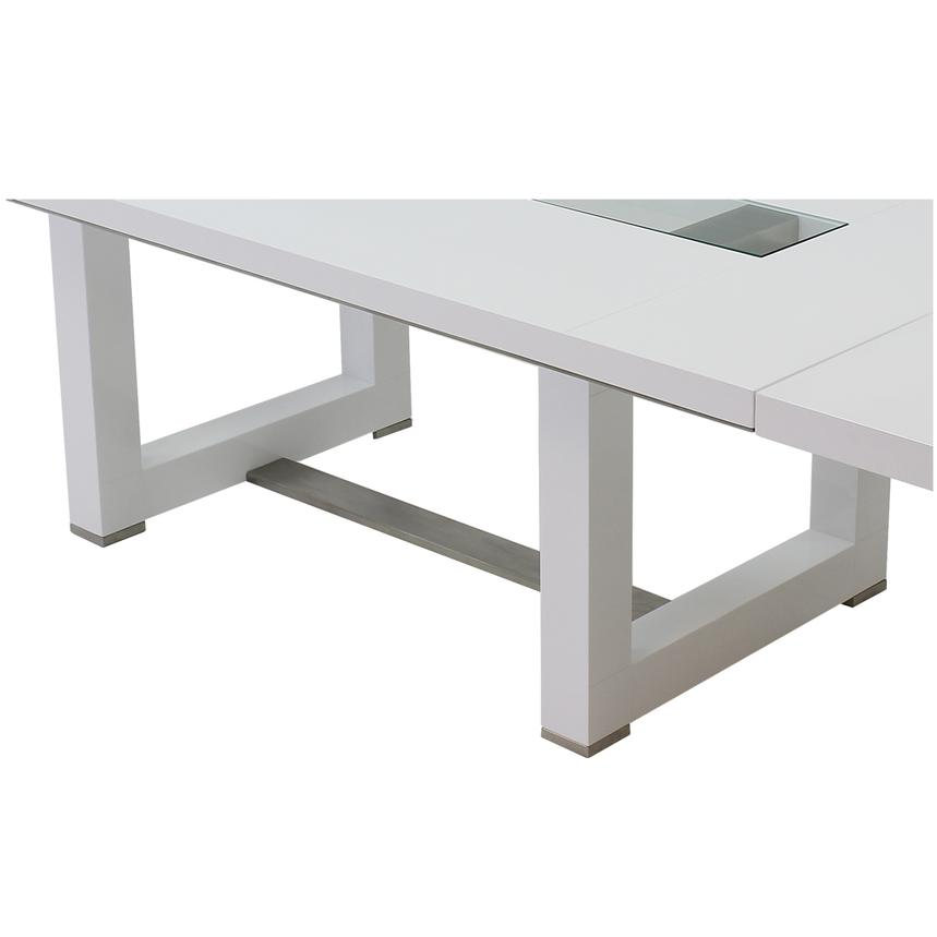 Novo White Extendable Dining Table  alternate image, 6 of 6 images.