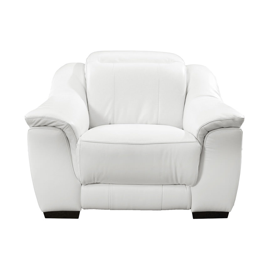 Davis White Power Motion Leather Recliner  alternate image, 5 of 10 images.