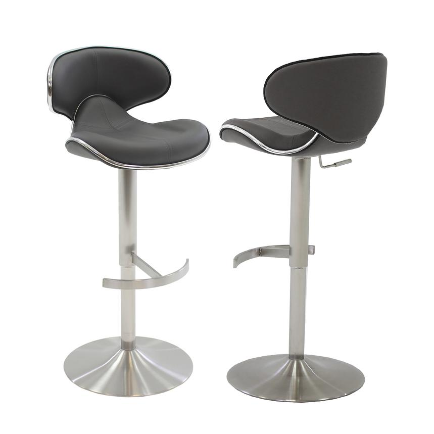 Incredible Ecco Gray Adjustable Stool Pabps2019 Chair Design Images Pabps2019Com