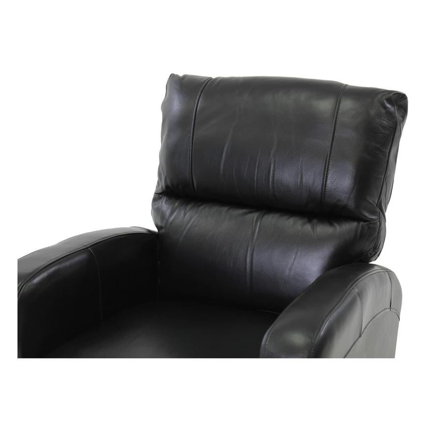 Keegan Black Power Motion Leather Recliner  alternate image, 6 of 8 images.