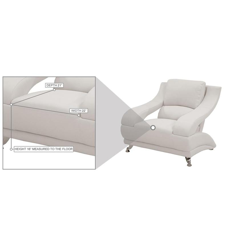 Jedda White Leather Chair  alternate image, 6 of 6 images.