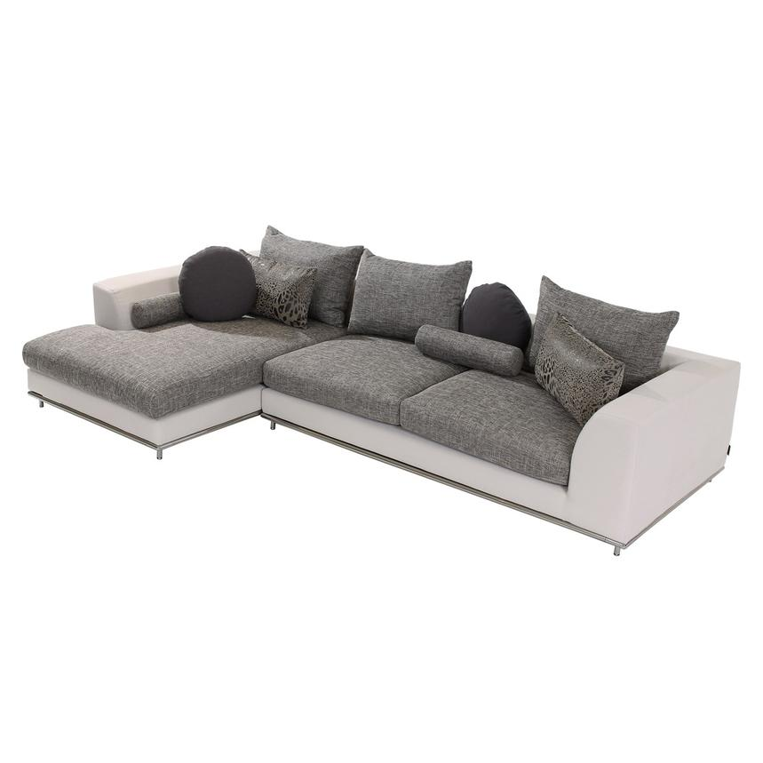 Hanna Sofa w/Left Chaise  main image, 1 of 6 images.