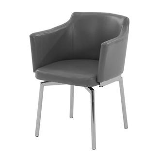 Dusty Gray Swivel Side Chair