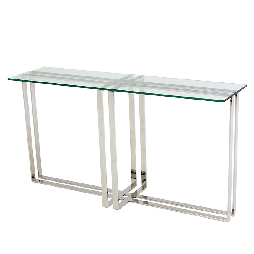 Riga Clear Console Table  main image, 1 of 6 images.