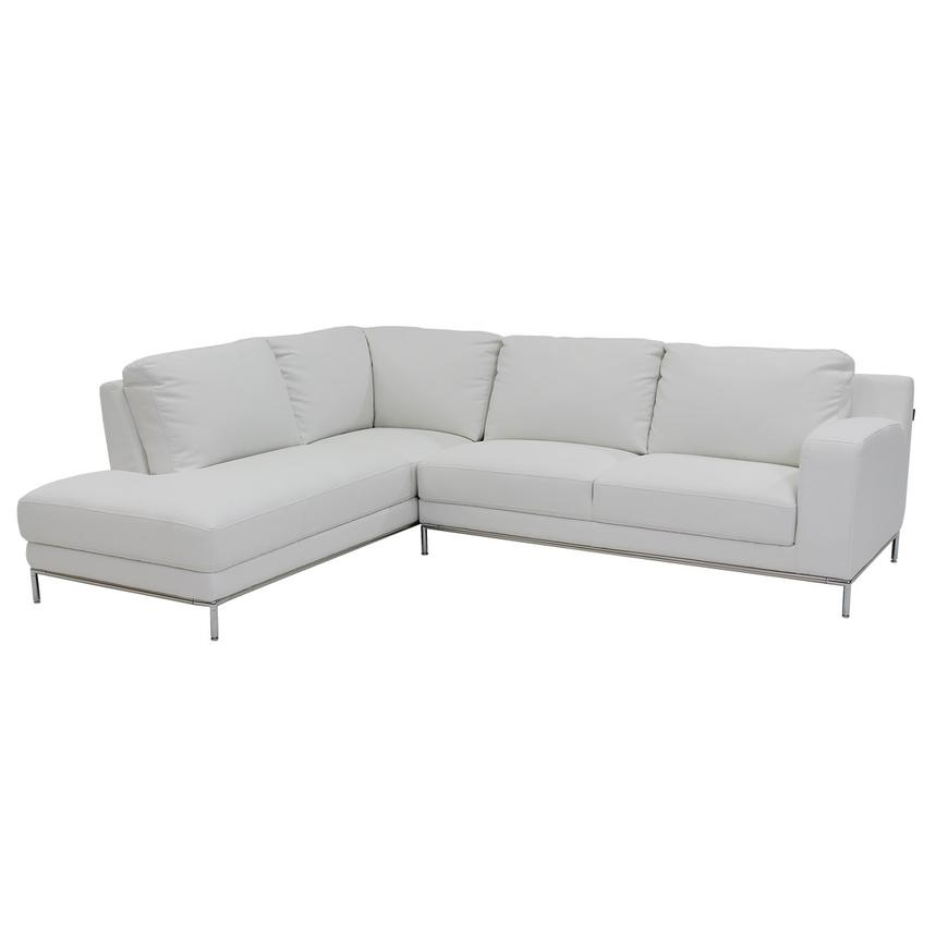 Cantrall White Sofa w/Left Chaise  main image, 1 of 6 images.