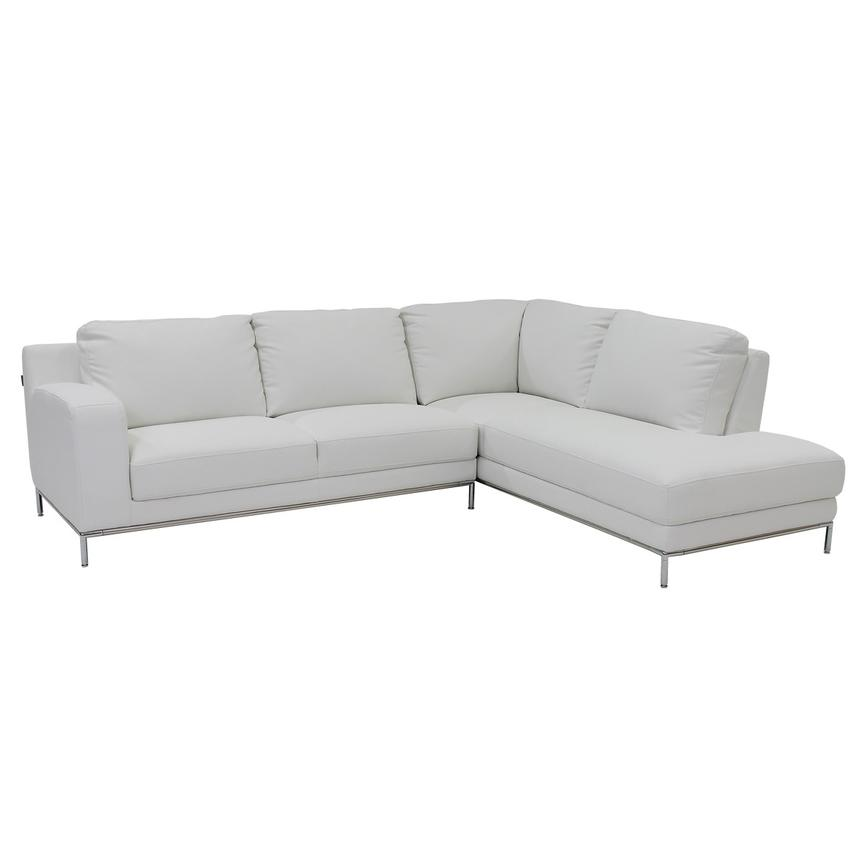 Cantrall White Sofa w/Right Chaise  main image, 1 of 6 images.
