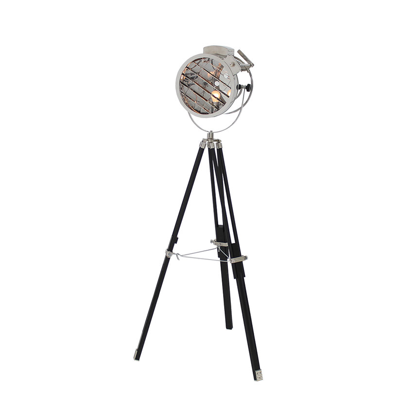 Old Hollywood Sealight Black Floor Lamp  main image, 1 of 4 images.