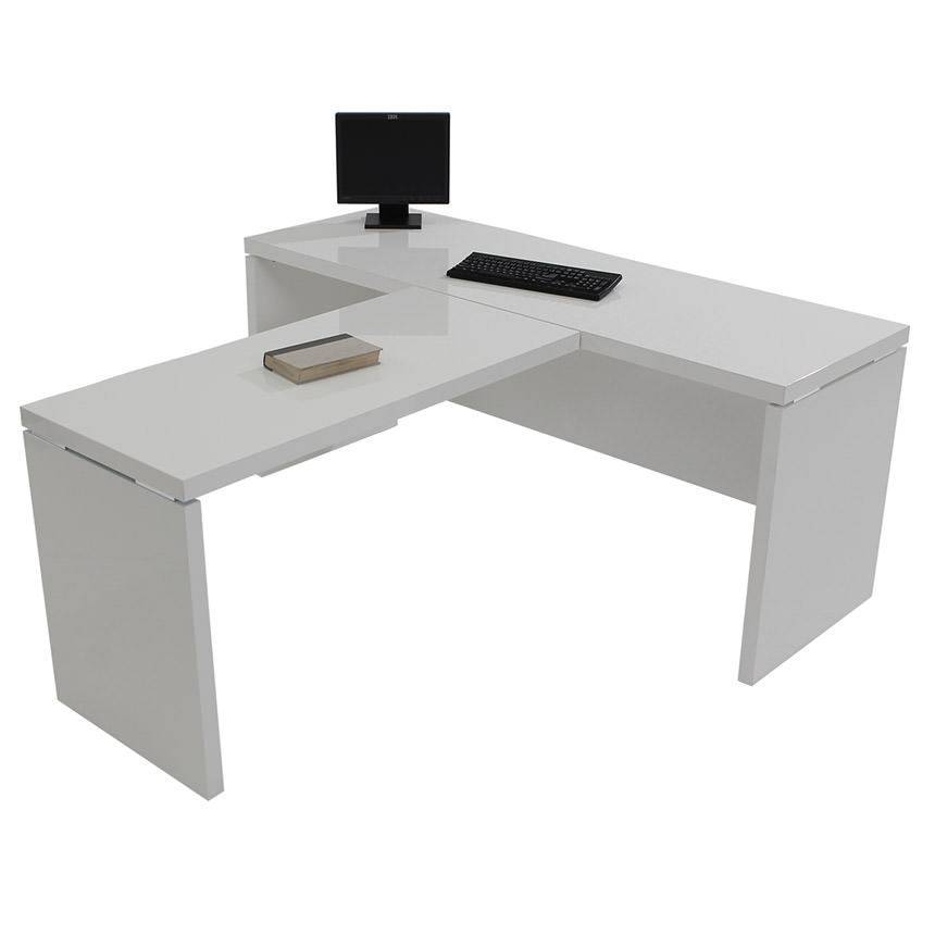 Sedona White L-Shaped Desk  alternate image, 4 of 6 images.