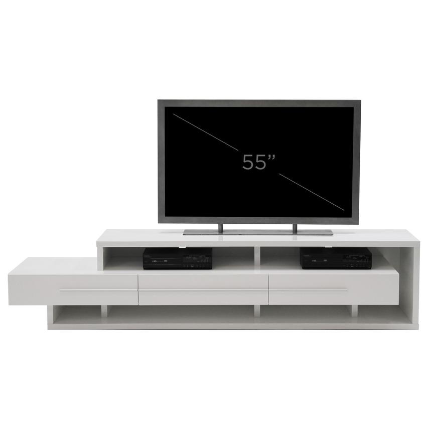 Avanti White TV Stand  alternate image, 6 of 6 images.