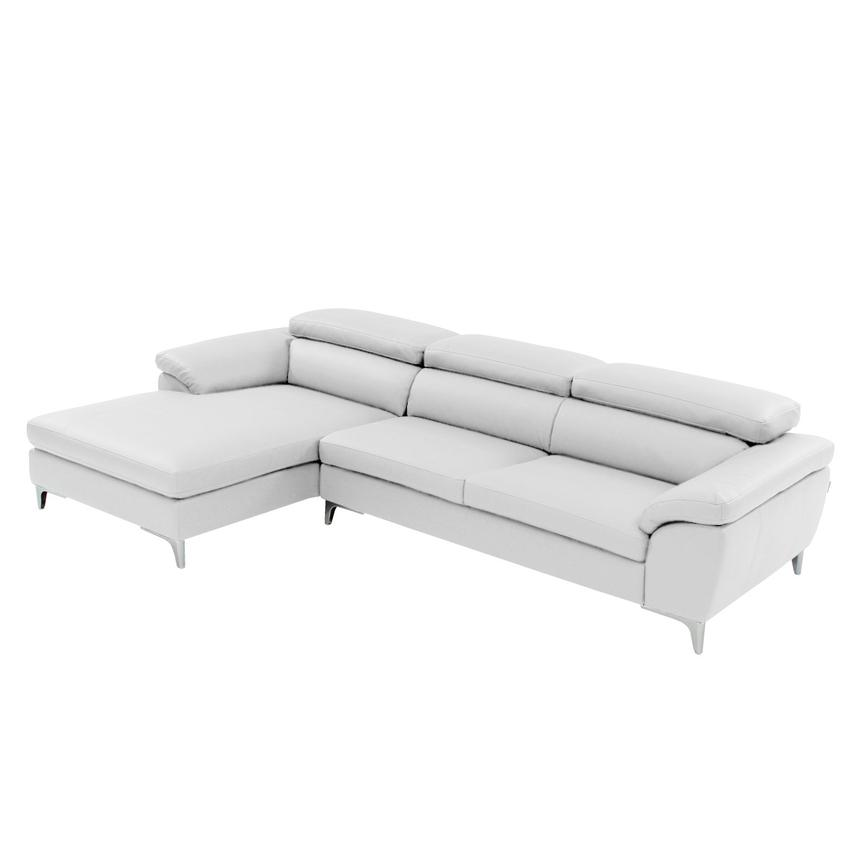 Costa White Sofa w/Left Chaise  main image, 1 of 6 images.