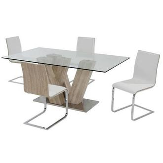 Solimar White 5-Piece Dining Set