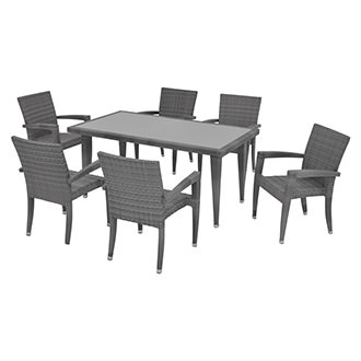 Neilina Gray 7-Piece Patio Set