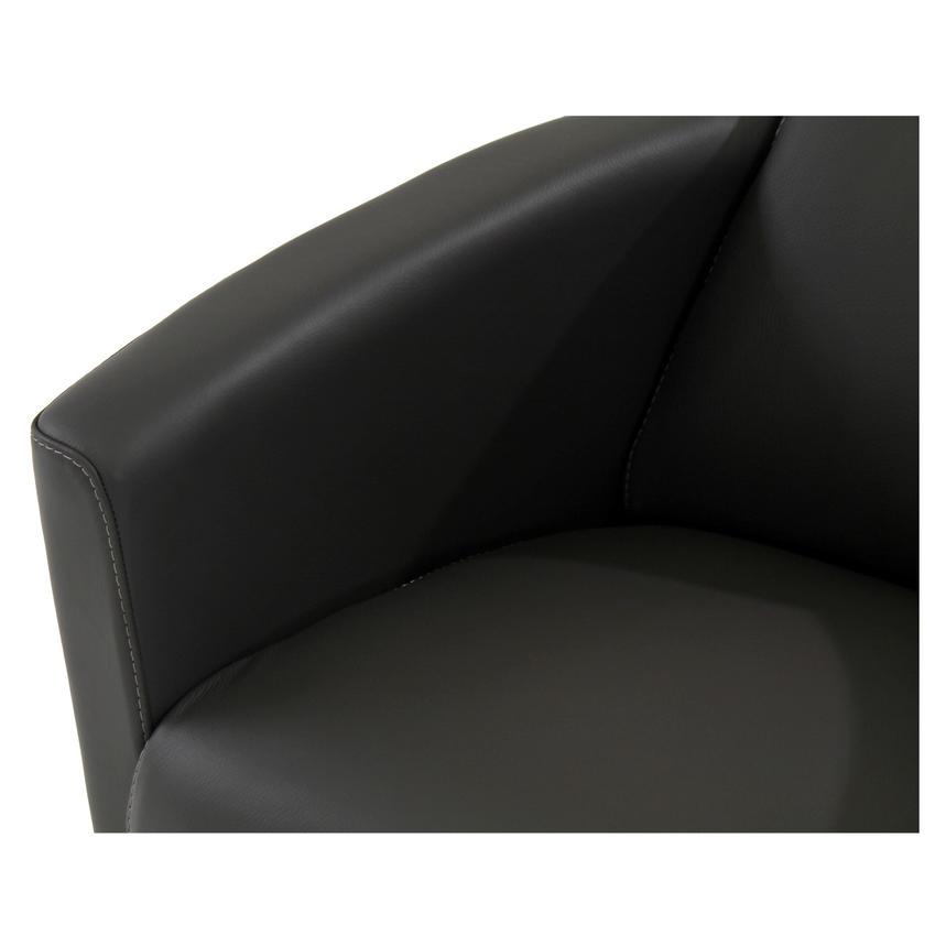 Fellini Gray Leather Accent Chair  alternate image, 6 of 7 images.