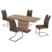 Lorange/Josseline Taupe 5-Piece Casual Dining Set  main image, 1 of 9 images.