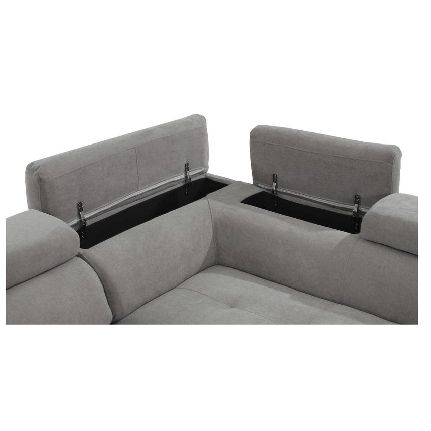 Taheri Gray Sofa w/Right Chaise  alternate image, 6 of 7 images.