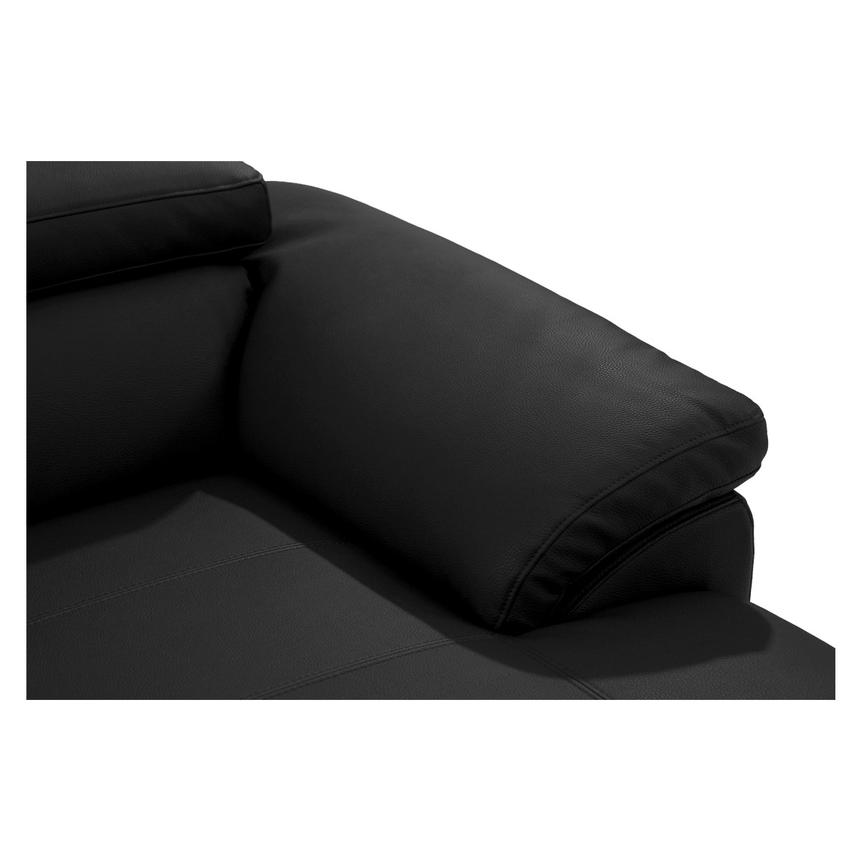 Costa Black Sofa w/Right Chaise  alternate image, 6 of 6 images.