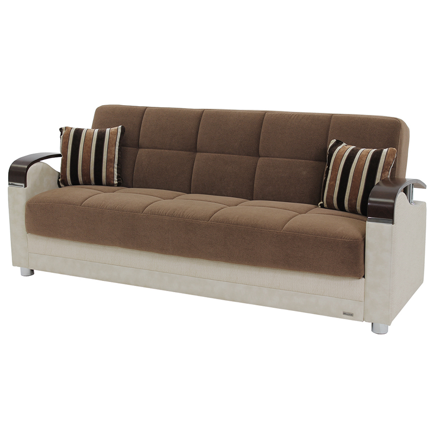 Peron Cream Futon Sofa  main image, 1 of 10 images.