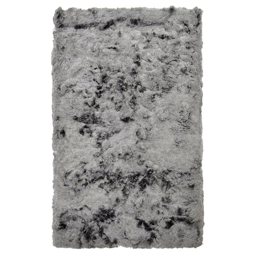 Silky Deluxe Gray 5' x 8' Area Rug  main image, 1 of 4 images.