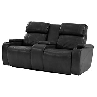 Magnetron Black Power Motion Sofa w/Console
