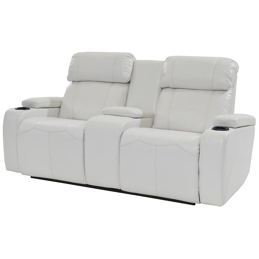 Magnetron White Power Motion Sofa w/Console  main image, 1 of 8 images.