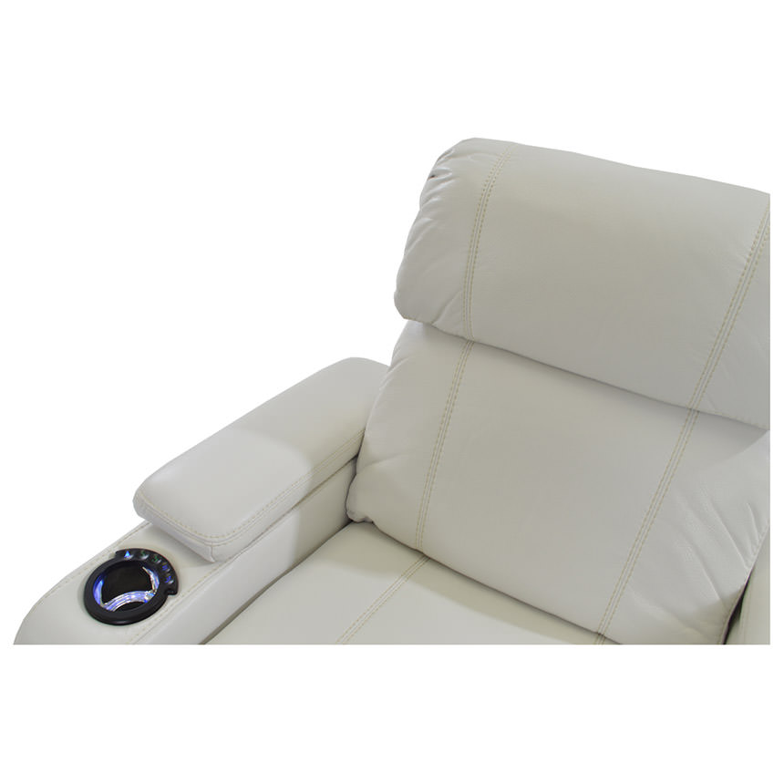 Magnetron White Power Motion Sofa w/Console  alternate image, 6 of 8 images.