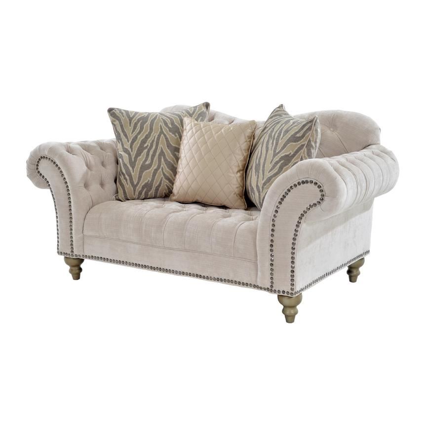Laura Cream Loveseat  main image, 1 of 7 images.