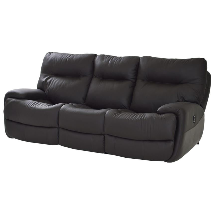 Evian Gray Power Motion Leather Sofa | El Dorado Furniture